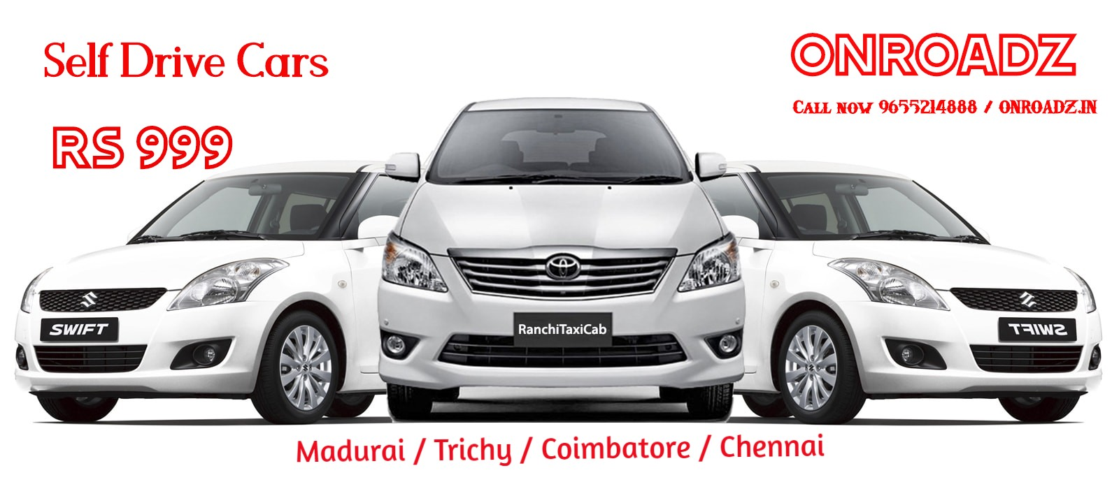 Self Driving Car Rental in Trichy and Coimbatore